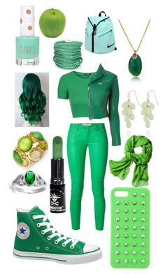 """Green"" by bewareofpaige ❤ liked on Polyvore featuring Converse, MICHAEL Michael Kors, Topshop, NIKE, Pavilion Broadway, Reed Krakoff, Manic Panic, Style & Co., Bling Jewelry and 4WE"