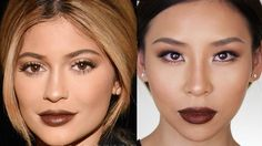 Kylie Jenner Fall Makeup Tutorial - Great for Hooded or Asian Eyes - Lets Learn Makeup Asian Eye Makeup, Smoky Eye Makeup, Eye Makeup Art, Simple Eye Makeup, Best Makeup Tips, Best Makeup Products, Kylie Jenner Makeup Tutorial, Kylie Makeup, Asian Makeup Before And After