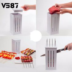 The sun is shining and the BBQ is hot, but you've been given the job of constructing 16 skewers for your guests. Make it easy for yourself with this ingenious g