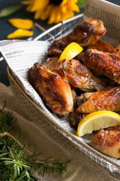 Crispy lemon chicken wings