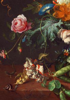 Jan Davidsz de Heem. Detail from Vase of Flowers, 1660.