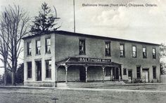 The original part of this building was constructed by John Kirkpatrick in 1816. In the 1890's, it was converted into a hotel known as the Baltimore House that was in business until 1929. Today it is the home of The Boat House Family Restaurant. Canada 150: Niagara Falls Then and Now. Niagara Falls Public Library.