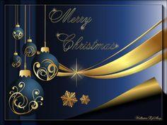 Royal Blue Christmas - ornaments, winter, holidays, christmas