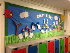 Angry Birds 3D shapes display :) kids absolutely adore this!!! Simple 3D shape nets with a selection of faces to choose from. Engaging and relevant to the children!!