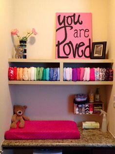 Kids Closet Storage, Kid Closet, Cloth Diaper Organization, Cloth Diaper Storage, Nursery Rhymes, Girl Nursery, Couches, Old Room, Cloth Nappies