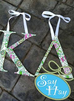 Items similar to Kappa Greek letter hand painted in sorority inspiration theme on Etsy Painted Letters, Hand Painted, Delta Letter, Fabric Covered Letters, Big Little Week, College Of Charleston, Sorority Crafts, Kappa Delta, Crafty Craft