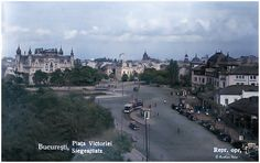 Bucurestiul Secret tSponcsgg22noredh · Bucureștiiul în 1937,Piața Victoriei #colorized Bucharest, Paris Skyline, Victoria, Travel, Viajes, Destinations, Traveling, Trips