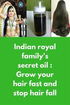 Indian royal family's secret oil : Grow your hair fast and stop hair fall This is the recipe my Grandma passed on to me and apparently is something which was used by Indian royal families to grow their hair, this recipe of DIY hair oil to controls hair fa How To Grow Your Hair Faster, How To Grow Natural Hair, Healthy Hair Growth, Hair Growth Tips, Hair Remedies For Growth, Diy Hair Oil, Best Hair Oil, Hair Fall Remedy, Hair Fall Control