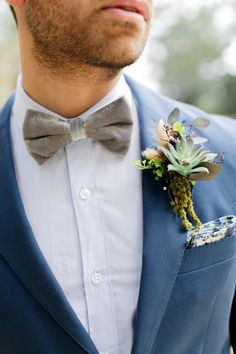 Rustic boutonniere: http://www.stylemepretty.com/destination-weddings/2015/04/20/fashion-inspired-hong-kong-elopement-inspiration/ | Photography: Alea Lovely - http://alealovely.com/