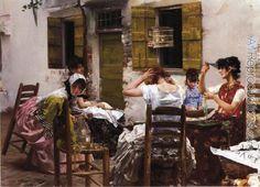 Robert Frederick Blum, Venetian Bead Stringers, 1887-8, Private Collection