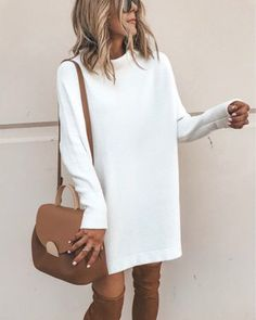 bf285b38a Danjeaner New Spring Turtleneck Solid Knitted Sweaters Dress Women Long  Sleeve Slim Streetwear Pullovers Oversized Sweater Pull