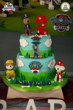 New Party Decoracion Birthday Paw Patrol Ideas Paw Patrol Birthday Cake, 4th Birthday Cakes, Birthday Party Tables, Paw Patrol Party, Card Birthday, Birthday Greetings, Birthday Ideas, Happy Birthday, Bolo Do Paw Patrol