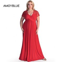 Amoyblue 2017 Large Size 6XL Spring Summer Sexy Red/Black/Dark Blue Women Maxi Dresses,Loose Plus Woman Lace Dress with V-neck #Spring summer http://www.ku-ki-shop.com/shop/spring-summer/amoyblue-2017-large-size-6xl-spring-summer-sexy-red-black-dark-blue-women-maxi-dresses-loose-plus-woman-lace-dress-with-v-neck/