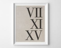 Roman Numerals Wedding Date Personalized by PepperandBlueDesigns