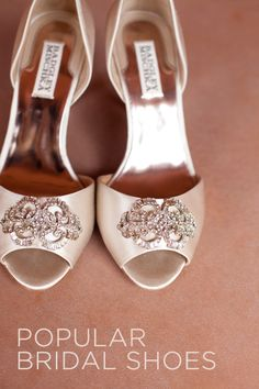 What are the most popular bridal shoes? Click to find out! {via Project Wedding}