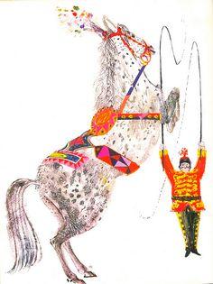 circus horse illustration.