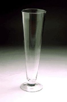 """Wholesale Clear Trumpet Glass Vase 4"""" Opening x 16"""" Height (8pcs) VTV0416"""