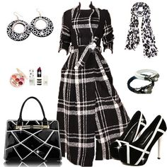 Grid Design Overcoats with High-heeled Prom Shoes #999095 - I'm Addicted To You Find More: http://www.imaddictedtoyou.com/