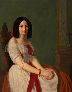 Antoine Henault (French, 1810-1867)Portrait of a Womanoil on canvas signed l.l. framed 38.75 x 30.75 in. (sight)