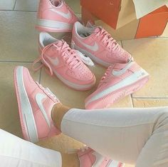 new arrival 61901 70844 air force one, nike, and pastel pink image Nike Flats, Nike Free Shoes