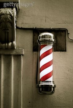 """Why Nowadays, Barber shop never use this symbol ???? I have cut my hair today as usual in the """"Just Cut"""" of Galleria in the city. I think I have scared the barber.....Since I didn't smile at all.....actually I have been there many times....."""