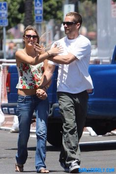 Paul & Jasmine out and about in Santa Barbara on May 28, 2011. The lovebirds had lunch at the Breakwater Cafe and then checked out his boat in the Santa Barbara harbor. | MUST CREDIT PHOTOS: KM Press Group: Rex Features