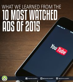 Here are the #VideoAdvertising lessons we learned from the 10 most viewed ads on #YouTube this 2015.