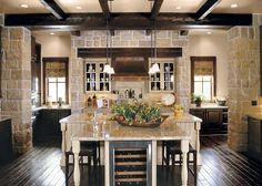 Great open kitchen. What you can't see is that the dining and living room just keep going past the island. One fabulous large room!