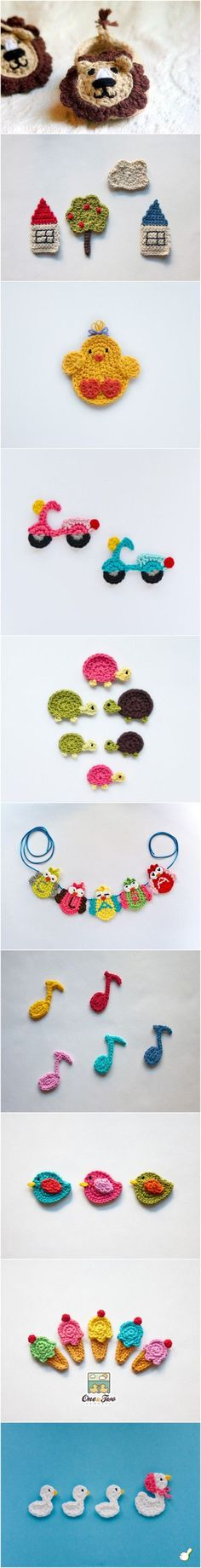 These are crochet jewelry, but I think they would make cute refrigerator magnets as well!!