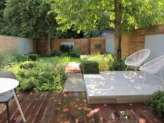 Garden as featured on Alan Titchmarsh's show Love Your Garden ITV - North London Garden. Highgate.  Garden Design.