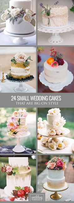 24 Small Wedding Cakes With Big Style ❤ See our gallery of small wedding cakes and catch new fresh ideas See more: http://www.weddingforward.com/small-wedding-cakes/ #weddings #cakes