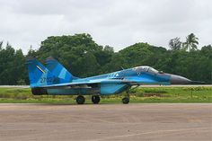 Three-tone colour scheme Myanmar Air Force MiG-29 MRD - more grey than BD colour scheme