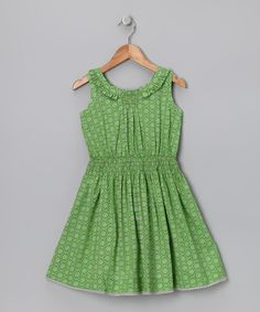 Look at this Sugar Green Ruffle Dress - Toddler on #zulily today!