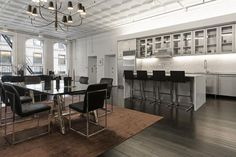Alexander Wang's NYC apartment is for sale - Vogue Living New York Loft, Vogue Living, Floor To Ceiling Windows, Tin Ceilings, Celebrity Houses, Cheap Furniture, Loft Furniture, Furniture Websites, Furniture Logo