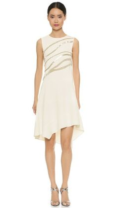 Narciso Rodriguez Sleeveless Beaded Dress