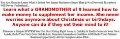 Learn how this grandma of 9 learned how to make money online! #makemoneyonline #grandmother #grandma #retired #selfemployed http://www.sevenfiguremastermindteam.com/preview/LCC/129299