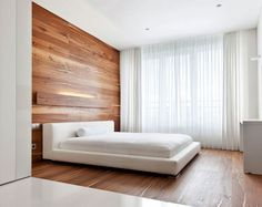 Wood Flooring on the Bedroom Wall