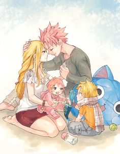 Dragneel Family the kids are so cute! XD