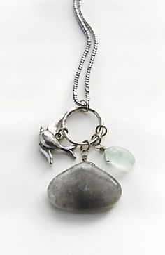 woodlands songbird charm necklace