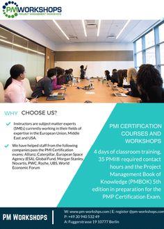 PM WORKSHOPS - PMI Certifications Project Management Training