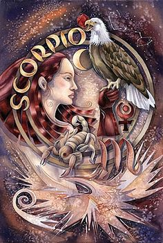 ♏ Scorpio:  Scorpio lives in a world of psychic phenomena. They have the ability to instantly 'read' people, ascertain their motives, and seep into their subconscious. Scorpio is highly intuitive, almost 'mind readers' especially about their loved ones...vulnerable to clairaudience, clarsetience, messages and synchronization. They can easily perceive messages from the paranormal. (The Psychic Zodiac@darkmoontarot.tumblr.com)