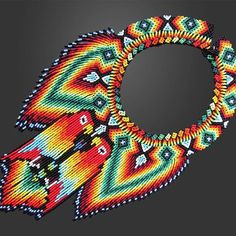 Hama Beads, Seed Beads, Beading Projects, Native American Art, How To Make Beads, Collars, Crochet Earrings, African, Indigo