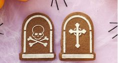 Decorated cookies for Halloween using our new Halloween stencil.