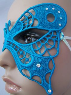 Turquoise Butterfly Mask by sillylittlefairy on Etsy, $23.00