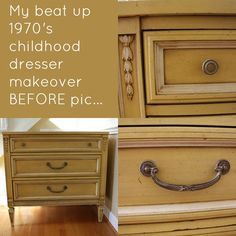 1970's Dresser Makeover Before Pic