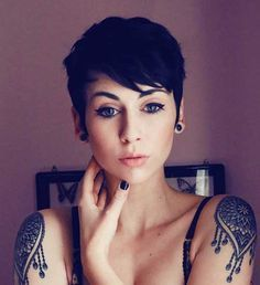 2016's most well known Pixie Cut with Bangs