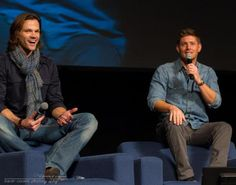 ... Winchester brothers, Jared Padalecki and Jensen Ackles, panel that