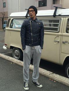 Lewis Leathersのライダースジャケットを使ったTetsushi Makinoのコーディネートです。WEARはモデル・俳優・ショップスタッフなどの着こなしをチェックできるファッションコーディネートサイトです。