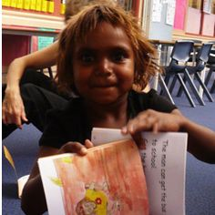 The Honey Ant Readers developed with Indigenous people for Indigenous readers are a bottom-up rather than top-down approach. Distinctive feature are: An individual reading program which caters for children who attend school irregularly. The use of Aboriginal themes and stories. The use of the Aboriginal way of storytelling. The use of Aboriginal English. A structured program taking into account the unfamiliar characteristics of SAE.