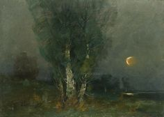 Új hold / New Moon, Zeller Mihály.  Hungarian (1859 -? )